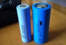 26650(右)与18650(左)动力电池